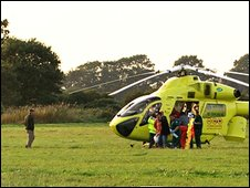 An air ambulance