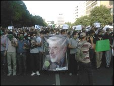Photo from today's protest in Tehran