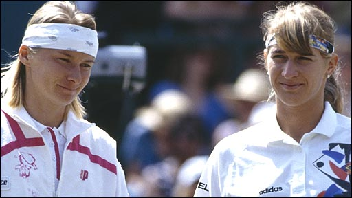 Jana Novotna and Steffi Graf
