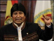 Bolivian President Evo Morales (file image)