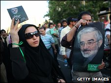 Supporters of Mir Hossein Mousavi 17.6.09