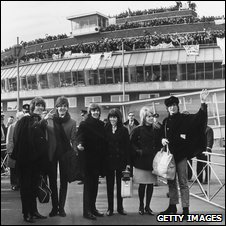 The Beatles at London Airport in 1965