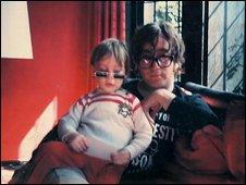 John Lennon with his young son Julian