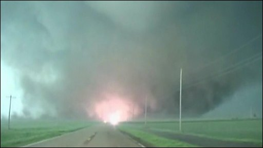 Large tornado in Nebraska