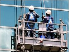 Window cleaners [file pic]