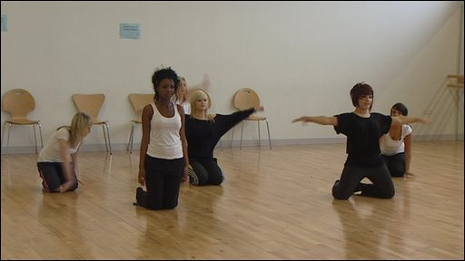 Pupils in dance studio