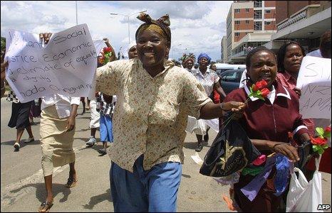 Woza protest, Zimbabwe, 2006