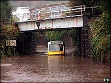 Flooding in Pontypridd