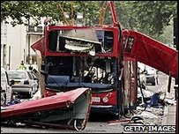 Bus destroyed by the Tavistock Place bomb