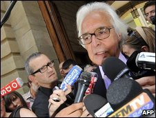Stern family lawyer Marc Bonnant outside court on 18/6/09