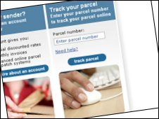 Parcelforce website