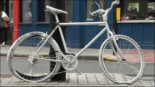 A 'ghost bike'