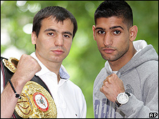 Andreas Kotelnik and Amir Khan