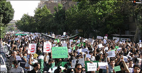 Opposition rally in Tehran, 18 June 2009