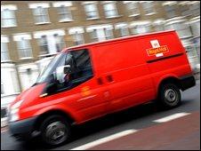 A postal van in London