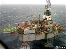A North Sea oil platform