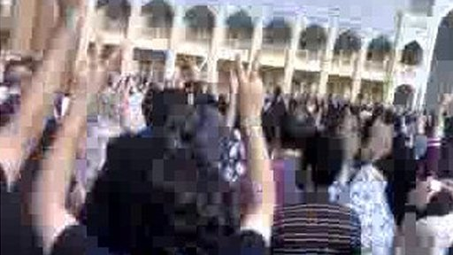 Rally in Shiraz, video sent by BBC Persian website reader