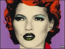 Banksy painting of Kate Moss