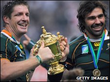 Bakkies Botha and Victor Matfield