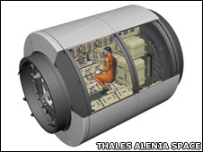 Cygnus cargo module (Thales Alenia Space)