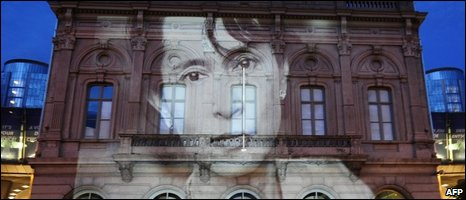 "Image of Aung San Suu Kyi on European Parliament""s building at Place du Luxembourg, 18/06"