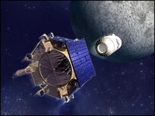 Artist's impression of LCROSS (Northrop Grumman)