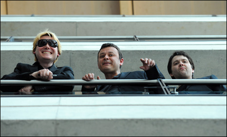 Nicky Wire, James Dean Bradfield and Sean Moore