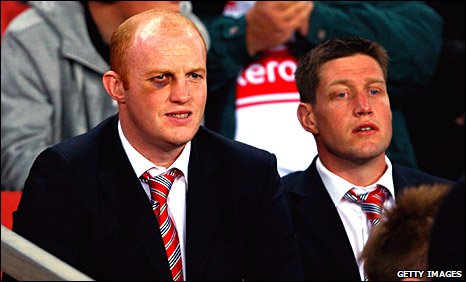 Martyn Williams and Ronan O'Gara