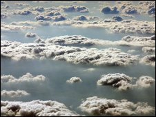 Cumulus and stratocumulus clouds