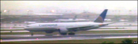 Flight 61 lands at Newark airport