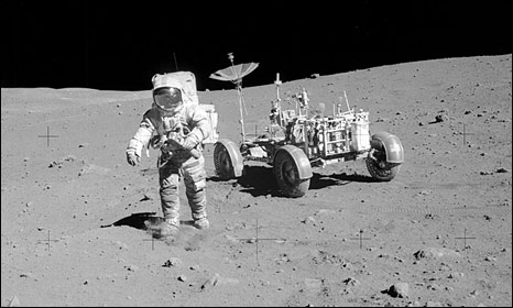 Dave Scott with lunar rover (Nasa)