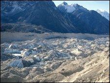 Khumbu Glacier, eastern Nepal