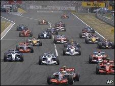 Formula One start, AP