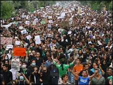 Pro-Mousavi supporters rally