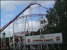 rollercoaster at M&ds