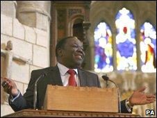 Zimbabwe's Prime Minister Morgan Tsvangirai in Britain