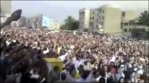 Crowds at a rally