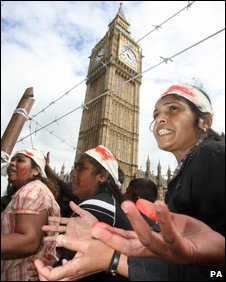 Tamil protest in London