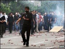 Protesters in Tehran - 20/6/2009