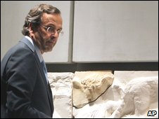 Greek Culture Minister Antonis Samaras at the opening