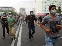 متظاهرون في ايران
