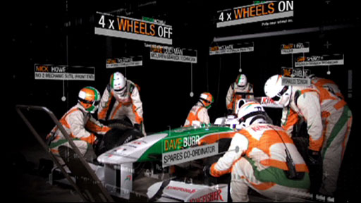 Pit stop with Force India