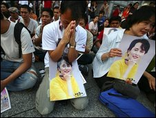 Burmese in Japan pray for Aung Sang Suu Kyi, 19 June 2009