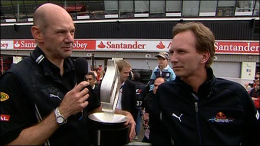 Red Bull&amp;apos;s Adrian Newey and Christian Horner