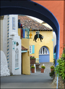 This colourful view of Port Meirion in north Wales was taken by Jean from Brynna, near Bridgend.