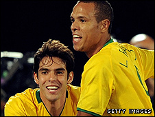 Kaka and Luis Fabiano 