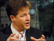 Nick Clegg replaced Menzies Campbell in 2007
