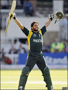 Shahid Afridi after the final