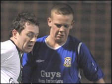 Aaron Canning (right) in action for Limavady against Glentoran