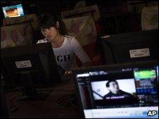 Cyber cafe in Zhengzhou